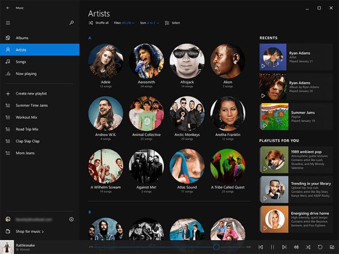 Xbox Musik-App erstmals im an Spotify 'angelehnten' Design zu sehen