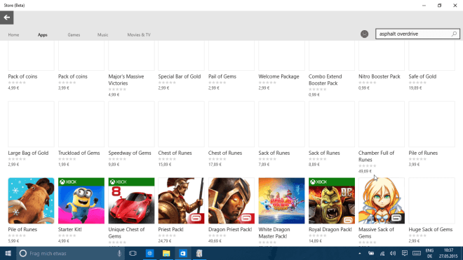 Bug im Windows 10 Store enthüllt Preise aller In-App-Purchases