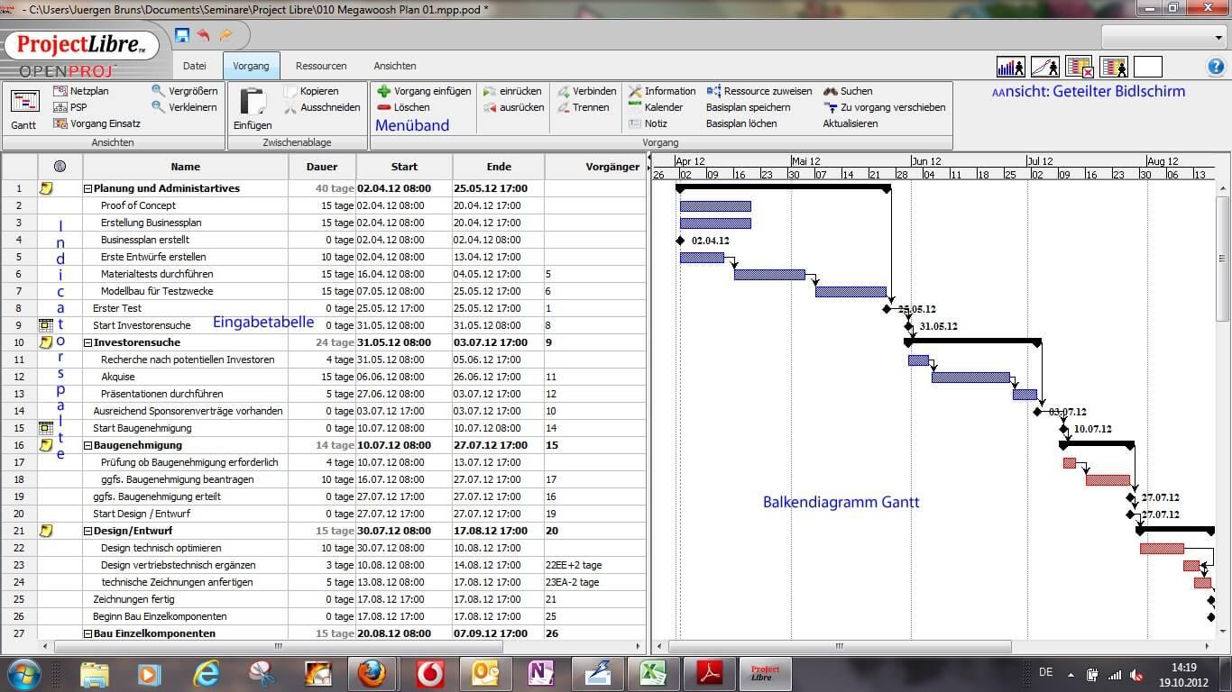 ProjectLibre - Projekte und Abläufe planen und steuern Download