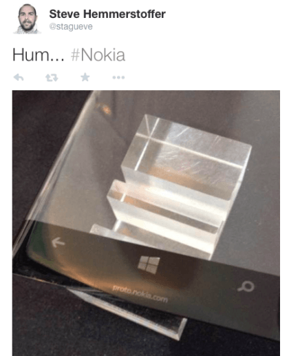 Lumia-Display mit gebogenen Kanten