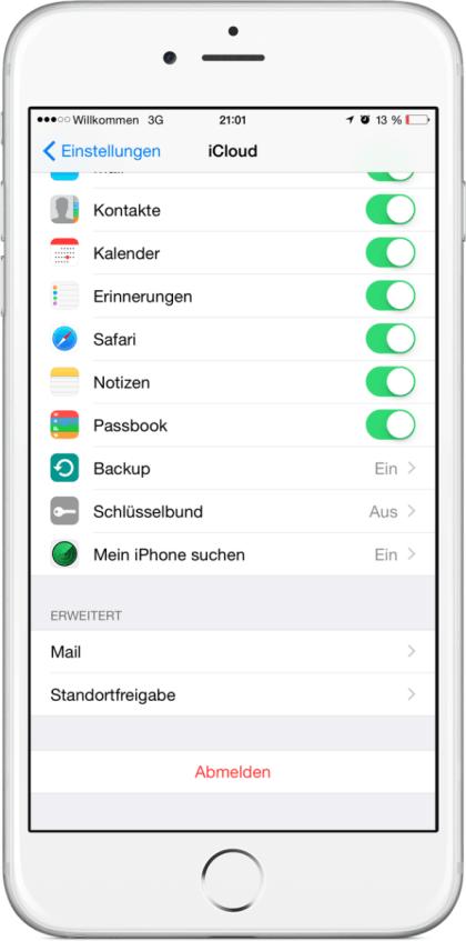 Ausfall der iCloud-Dienste