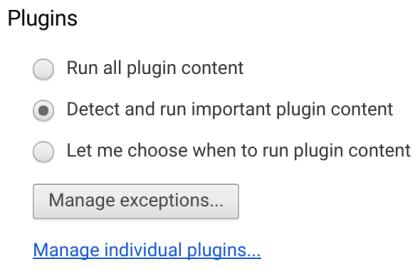 Chrome: Pausieren nicht zentraler Flash-Inhalte
