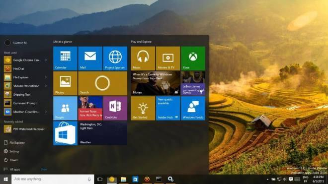 Windows 10 Build 10134 Desktop Leak