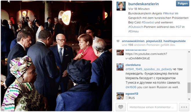 @bundeskanzlerin auf Instagram