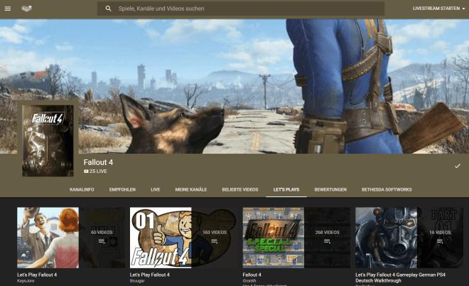 YouTube Gaming Plattform