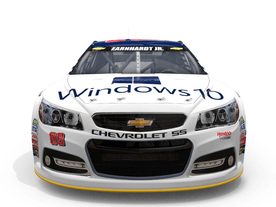 Windows 10: Microsoft lässt NASCAR-Renner für Upgrade werben