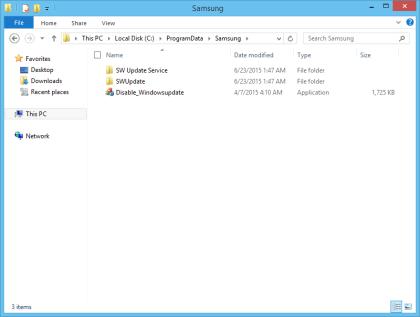 Samsung: Disable Windows-Update