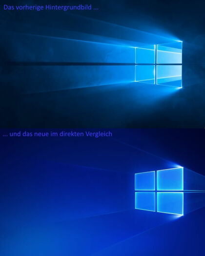 Windows 10: Hero-Hintergrundbild