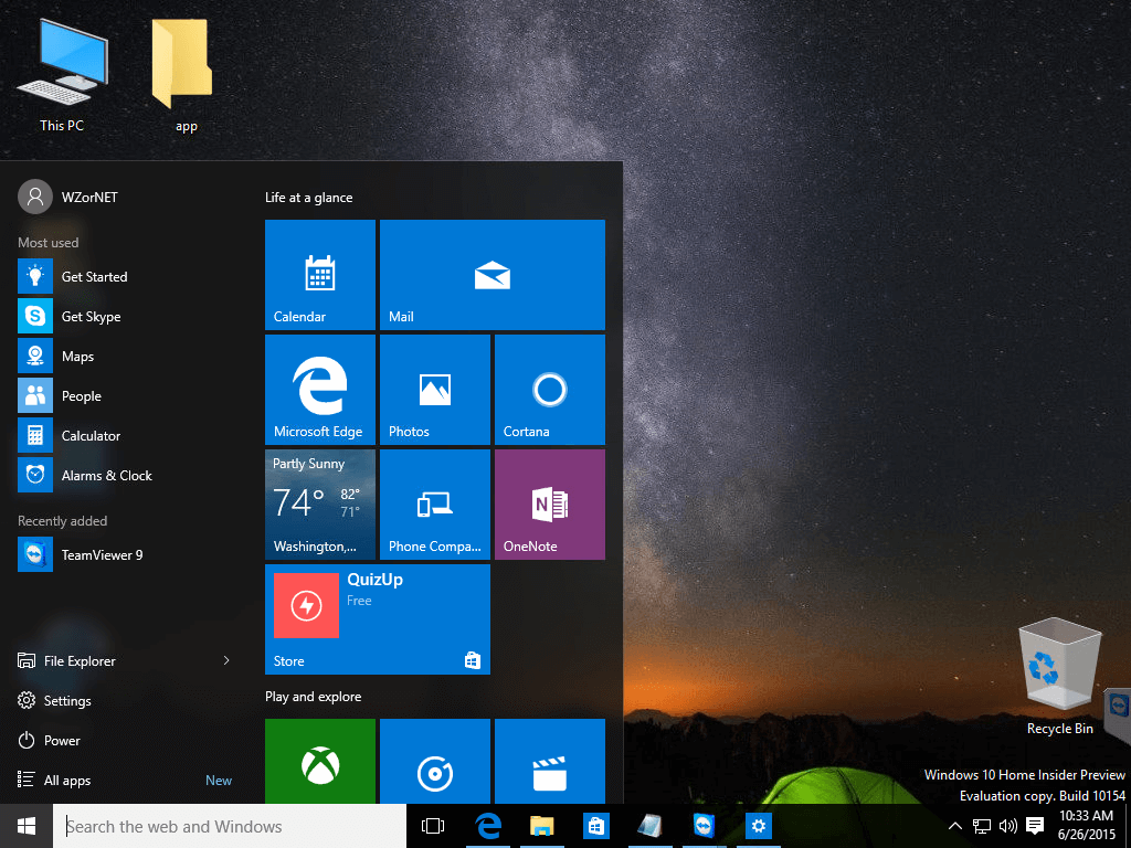 Windows 10 Build 10154: Screenshots zeigen fast finales Design
