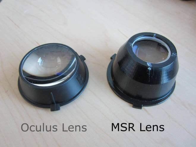 Microsoft Research Oculus Rift Linsen