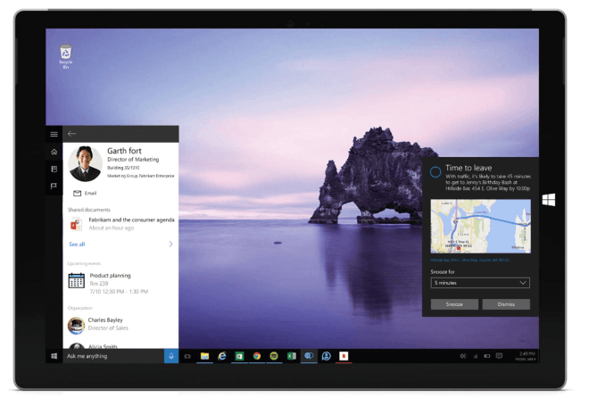 Cortana und Office 365