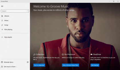 Groove Music und Movies & TV