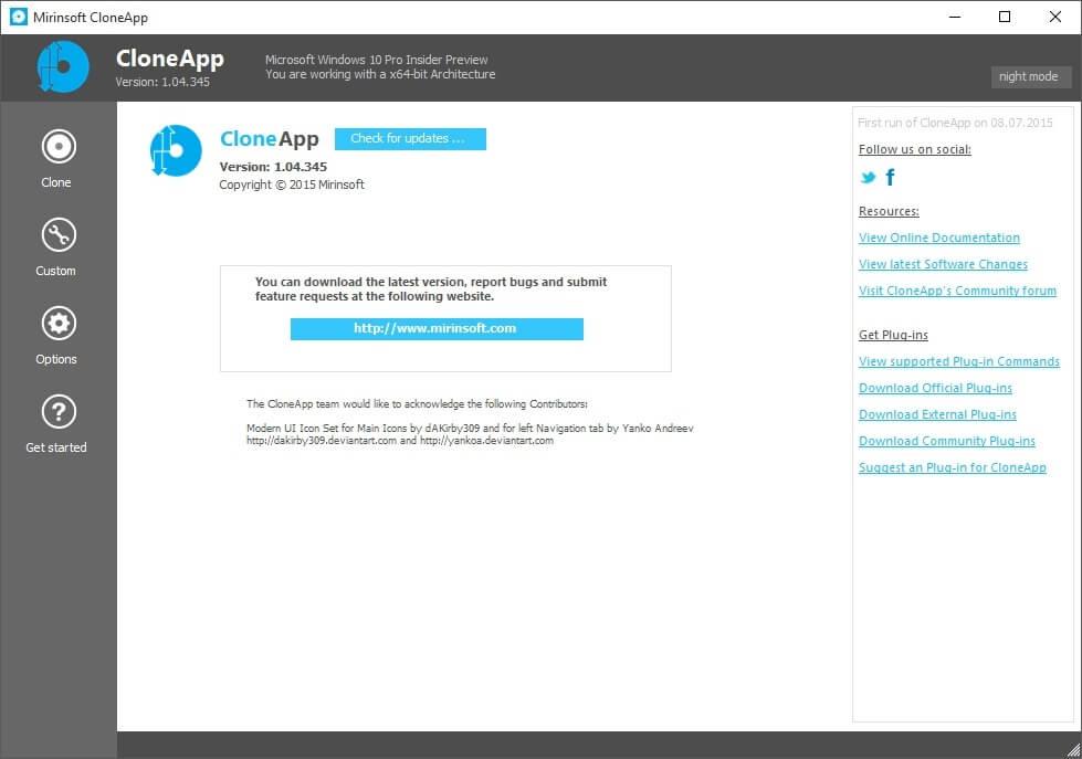 CloneApp