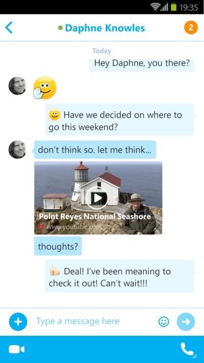 Skype 5.5 für Android