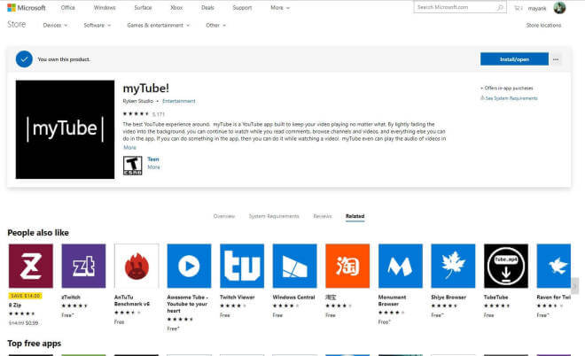 Windows Store im Web