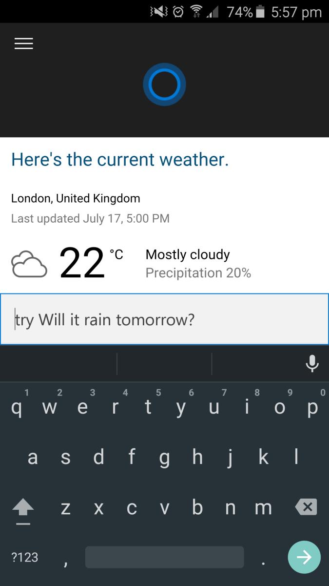 Cortana für Android: jetzt gibt es Fotos und einen .APK-Leak