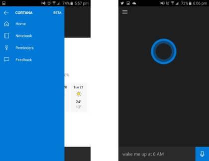 Leak: Cortana für Android