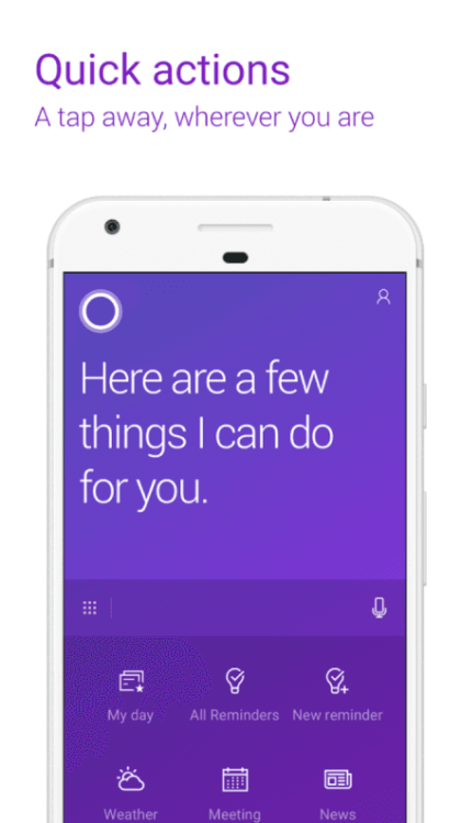 Leak: Cortana für Android