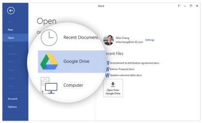 Google Drive Plug-In für Microsoft Office