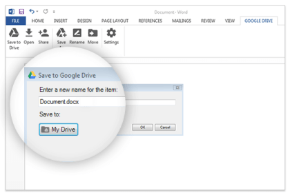Google Drive Plug-In für Microsoft Office
