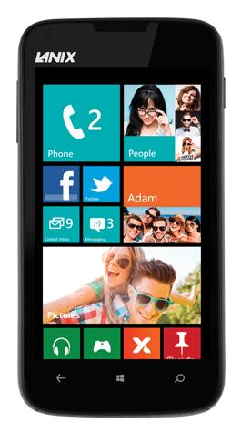 Lanix Ilium W250 vorgestellt: Neues Windows Phone für Einsteiger