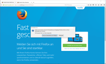 Windows 10 Standard-App-Dialog mit Firefox