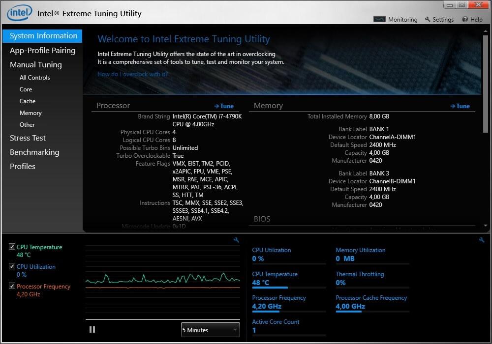Intel Extreme Tuning Utility