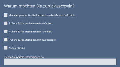 Windows 10: Downgrade auf Windows 7 oder 8.1