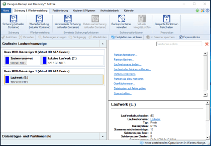 Paragon Backup & Recovery 14 Free