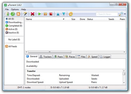 BitTorrent-Client µTorrent