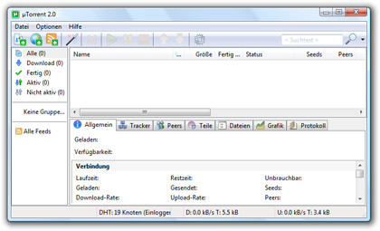 BitTorrent-Client µTorrent