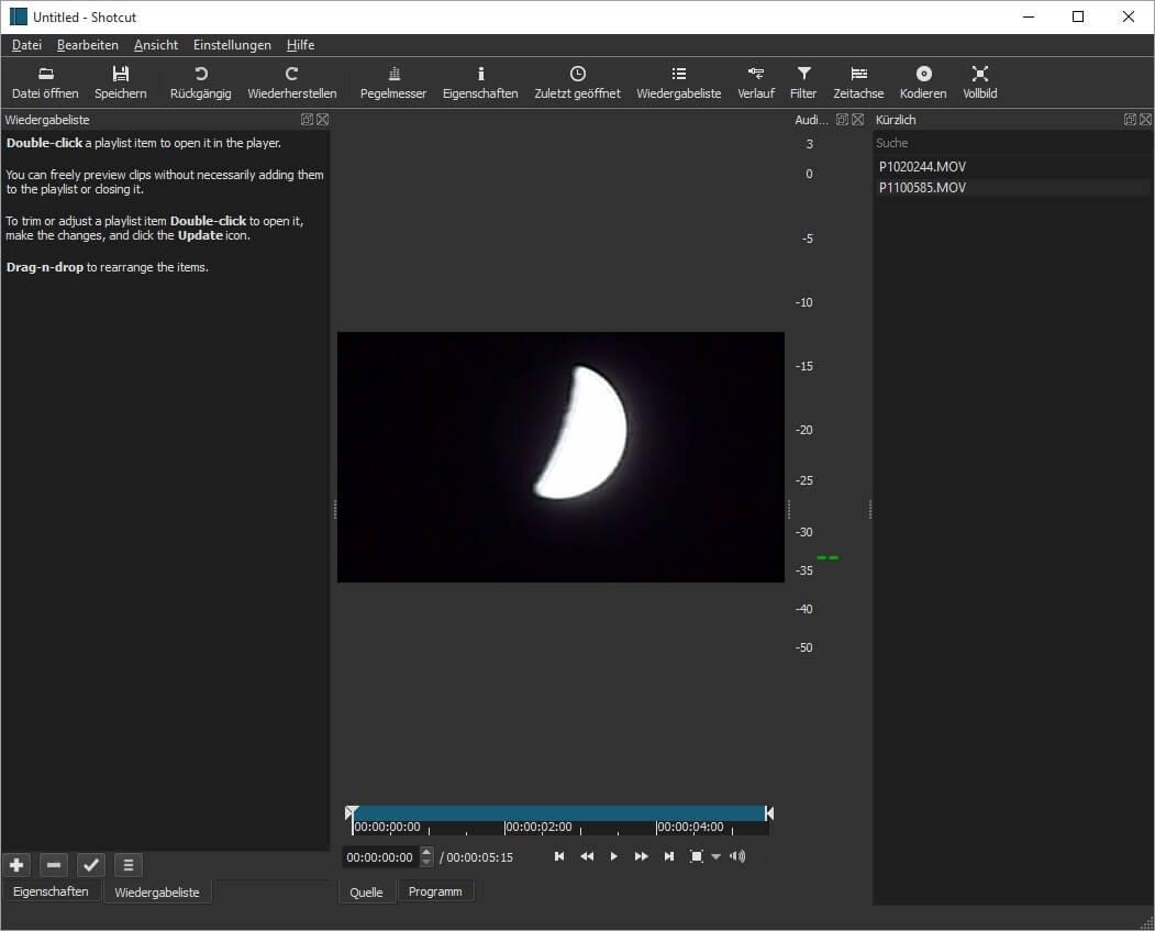 Shotcut - Freies Videoschnittprogramm Download