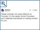 Reaktionen auf YouTubes Anti-AdBlock-Aktion