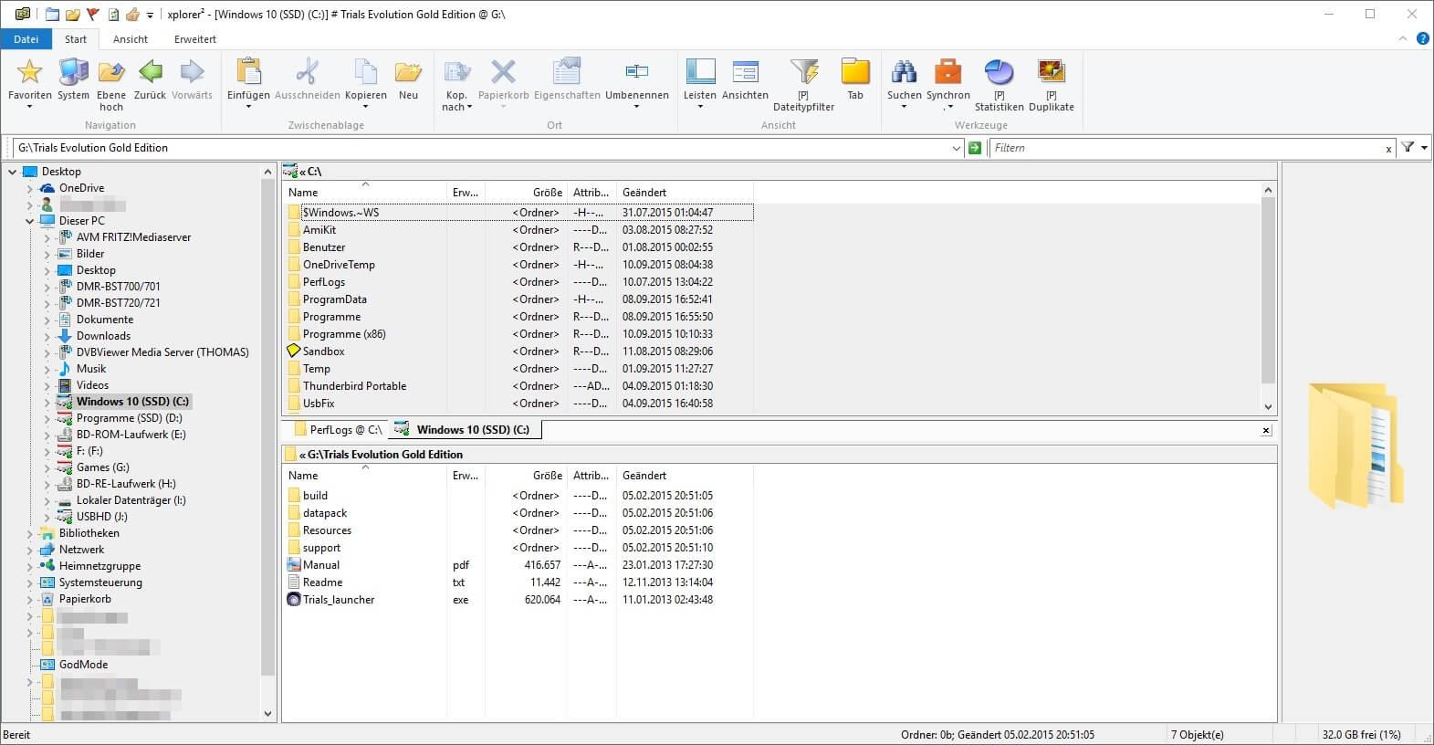 Xplorer2 Lite - Dateimanager mit Zweifensteransicht Download