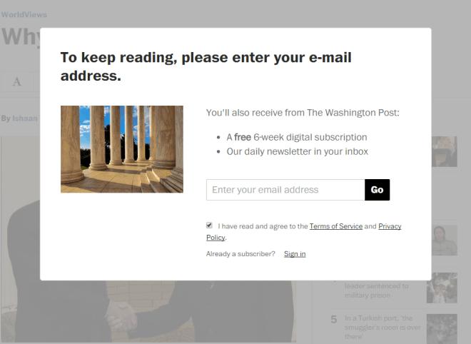 Washington Post und Adblocker