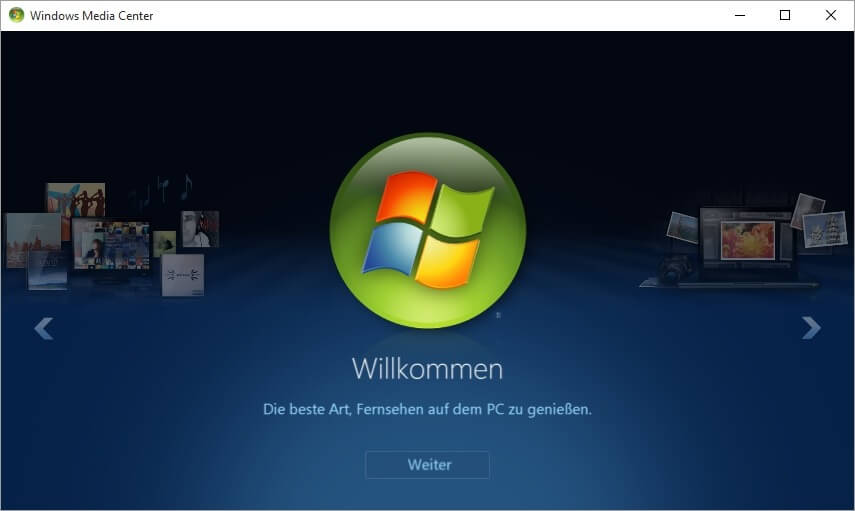 Windows Media Center für Windows 10