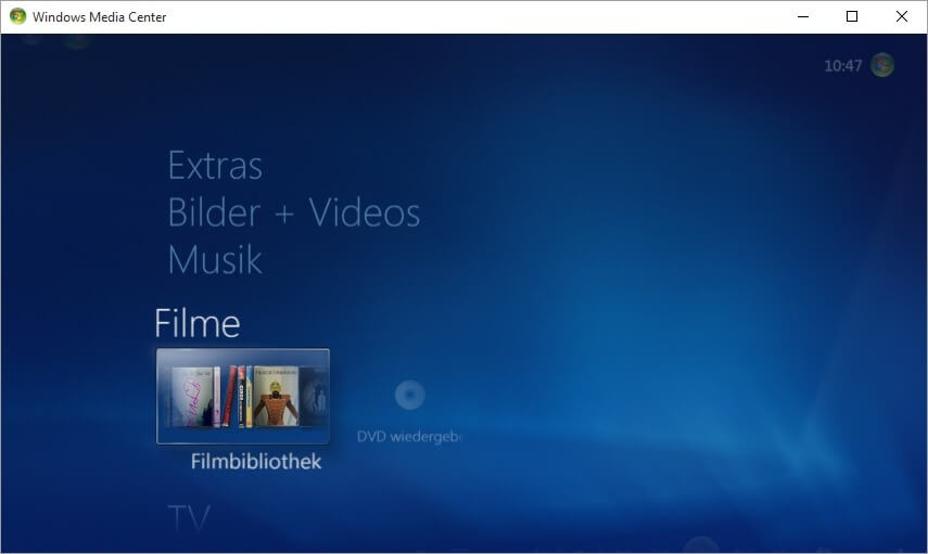 Windows Media Center für Windows 10
