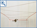 Drohnen bauen Hängebrücke
