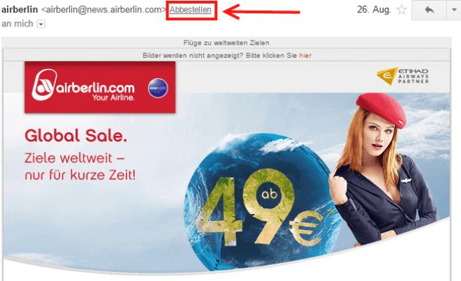 Gmail: Blocken und Abbestellen