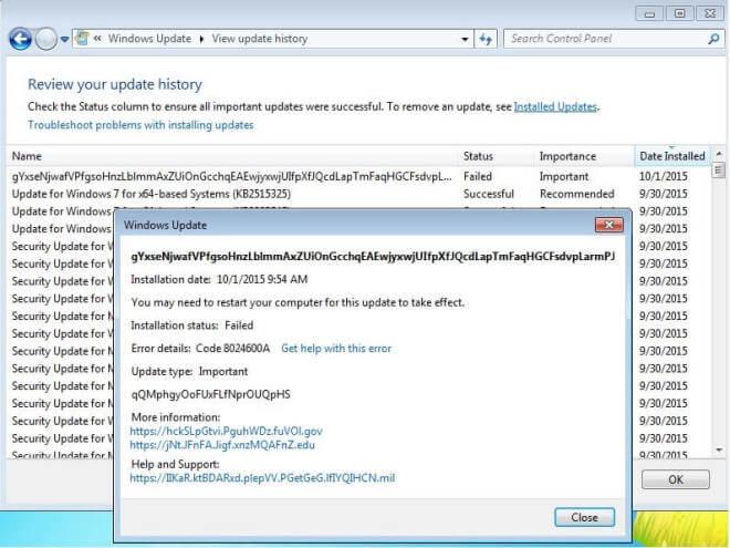 Windows 7: Test-Update