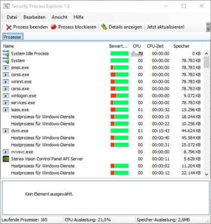Security Process Explorer
