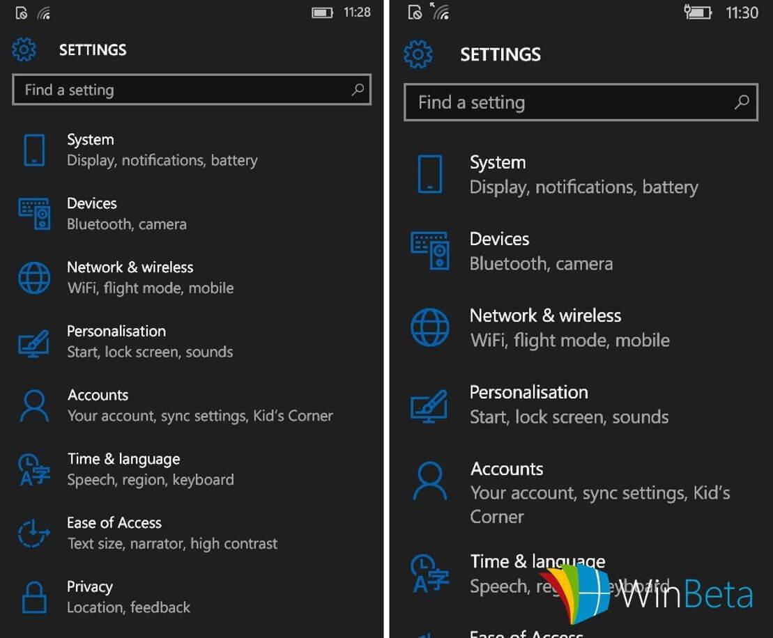 Windows 10 Mobile Build 101XX (Okt. 2015)