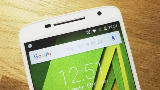 Google Suche auf Android