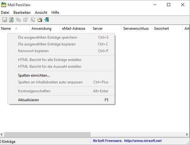 Mail PassView - Passwörter aus E-Mail-Clients auslesen Download