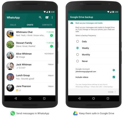WhatsApp: Backup auf Google Drive