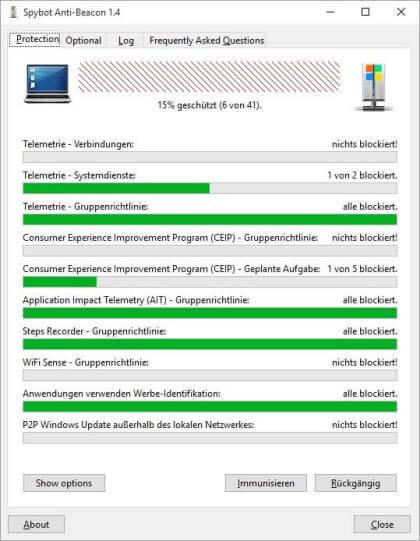 Spybot Anti-Beacon for Windows 10