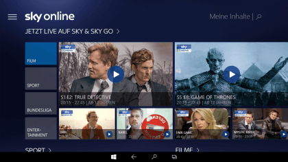 Sky Online f�r Windows 10