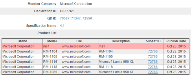 Microsoft MS1