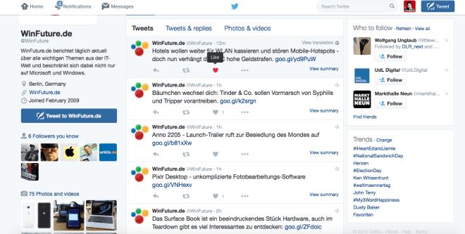 Twitter ersetzt Bewertungssystem
