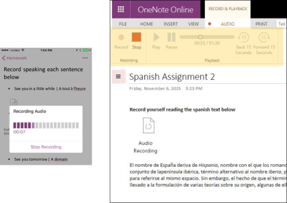OneNote: November-Update 2015